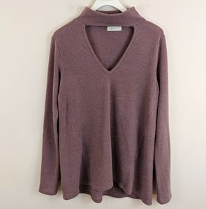 Millibon • Purple Long Sleeve Blouse [Tops]